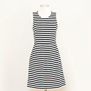 Madewell Striped Fit & Flare Afternoon Dress S